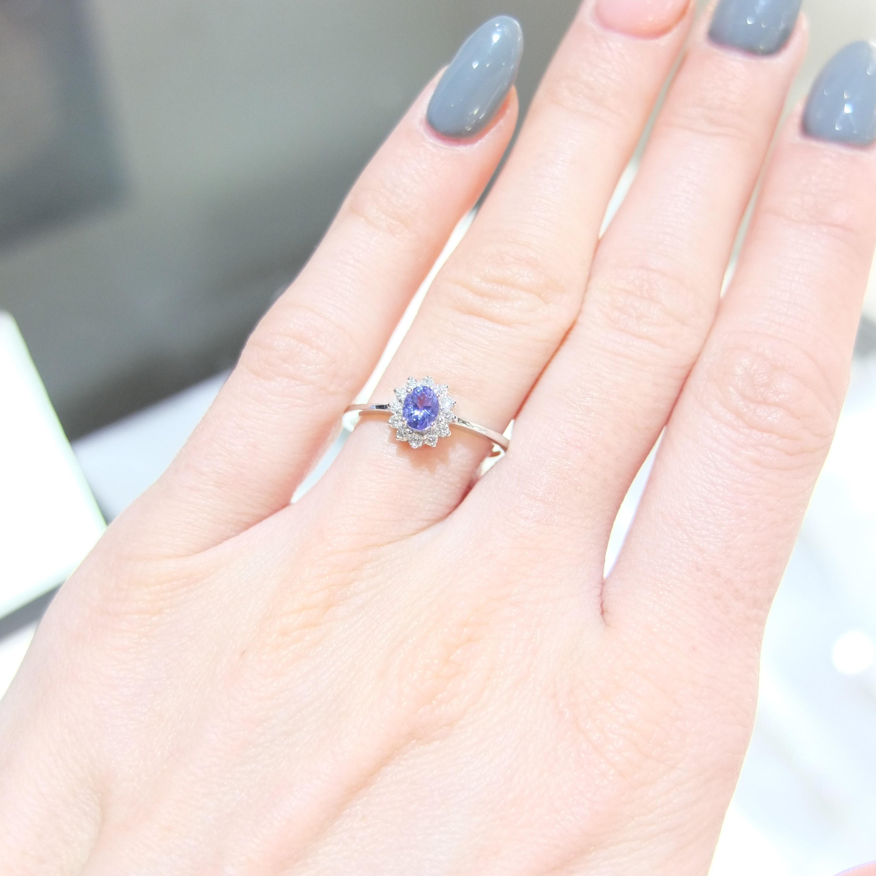 Briliantový prsteň s Tanzanitom