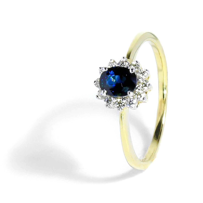 Diamantový prsteň so Zafírom