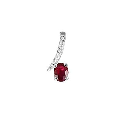 Zaujímavý diamantov prívesok s rubínom