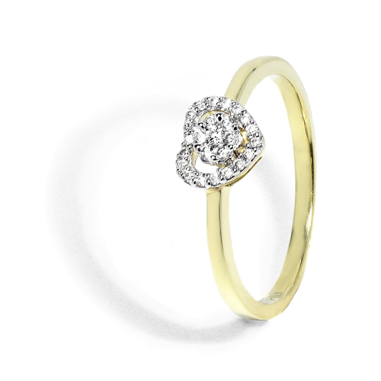 b4ddbc6c1 Jedinečný diamantový prsteň v tvare srdca 0,10 ct - Radovan Blaško ...