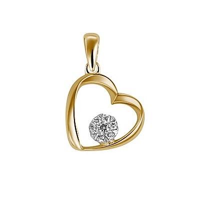Krásny diamantový prívesok v tvare srdca