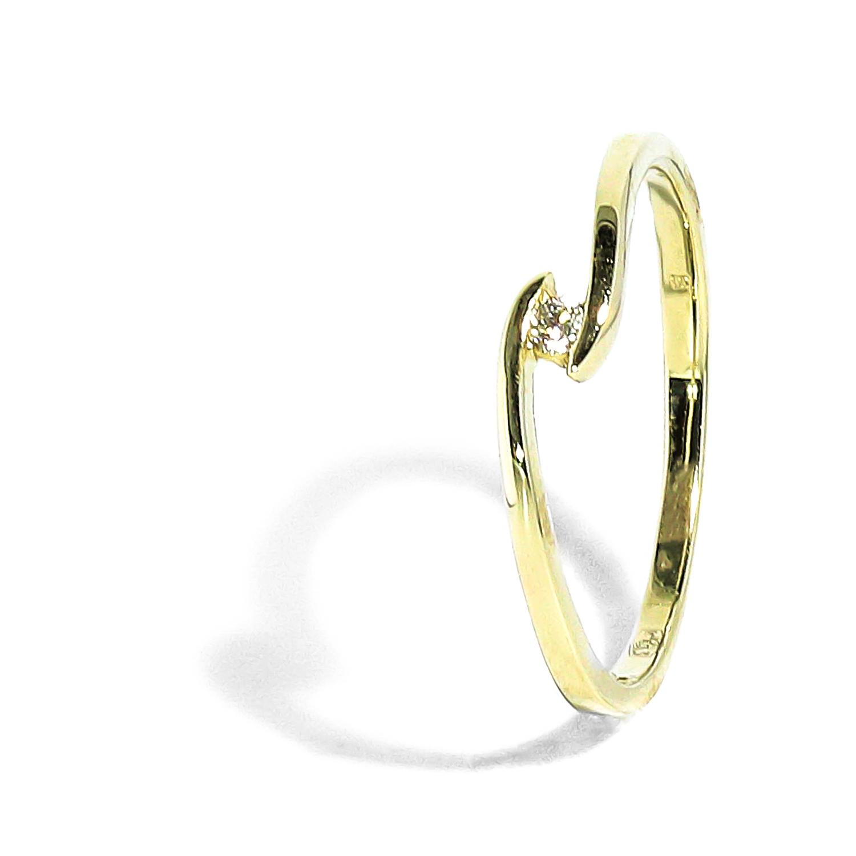 241c1ee61 Jemný zlatý prsteň s diamantom 0,03ct - Radovan Blaško - Zlatníctvo ...