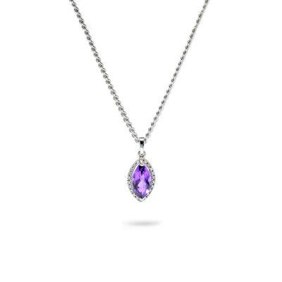 Vynímočný diamantový prívesok s ametystom