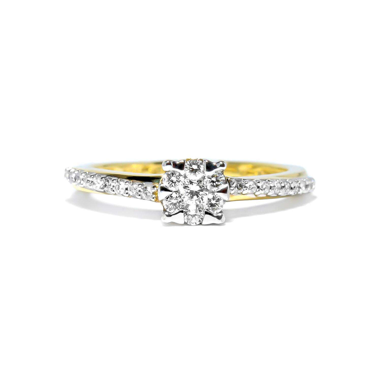 Vynímočný diamantový prsteň