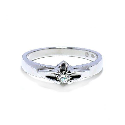 Vintagediamantový zásnubný prsteň