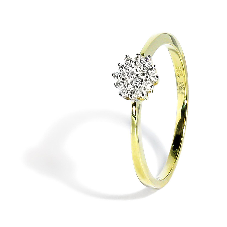 586408c22 Elegantný prsteň s diamantmi 0.11ct - Radovan Blaško - Zlatníctvo ...