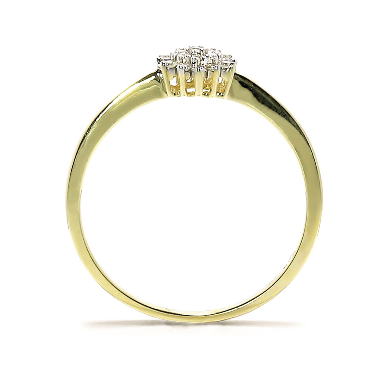 Elegantný prsteň s diamantmi
