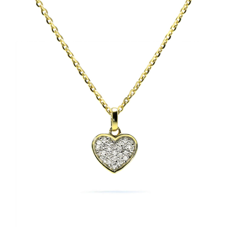 Diamantový prívesok v tvare srdca