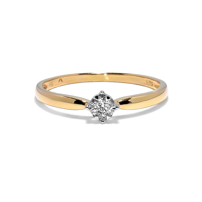 3b7c6b410 Jemný zlatý prsteň s osadenými diamantmi 0.05ct - Radovan Blaško ...