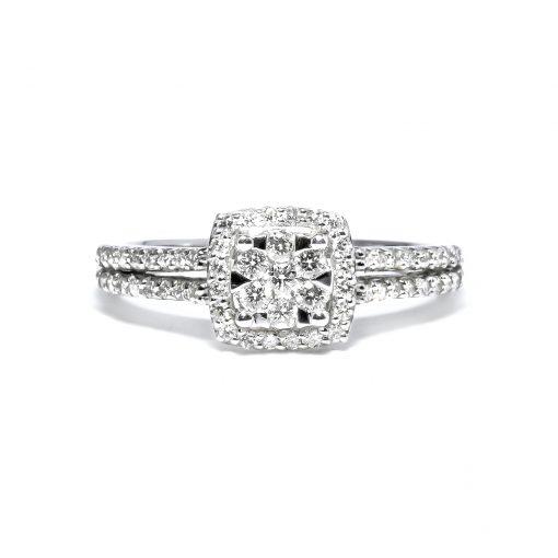 Luxusný diamantový prsteň zlatý