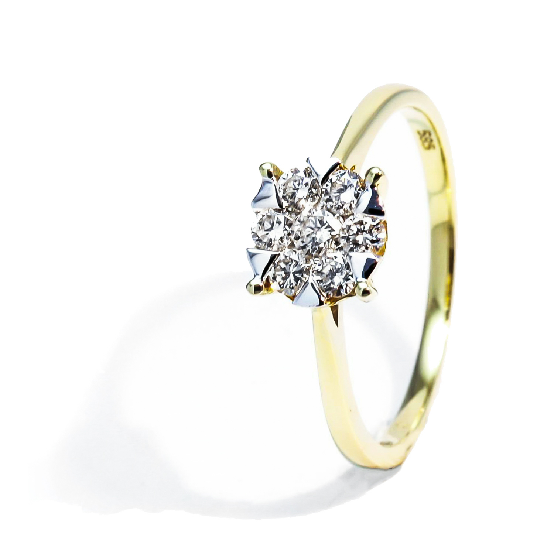 Diamantový prsteň z kolekcie Illusion