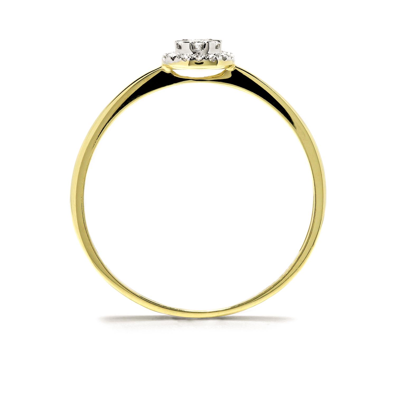 Elegantný diamantový prsteň