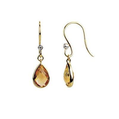 Elegantné-zaujímavé diamantové naušnice s Cirtínom