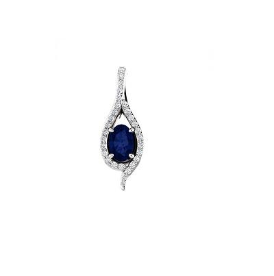 Luxusný diamantový prívesok so Zafírom - Radovan Blaško - Zlatníctvo ... 7ed09d0580c
