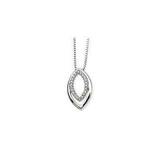Jemný diamantový prívesok z bieleho zlata