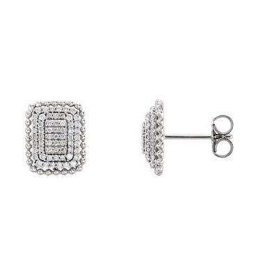 Luxusné diamantove naušnice z bieleho zlata