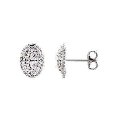 Luxusné diamantové náušnice z bieleho zlata
