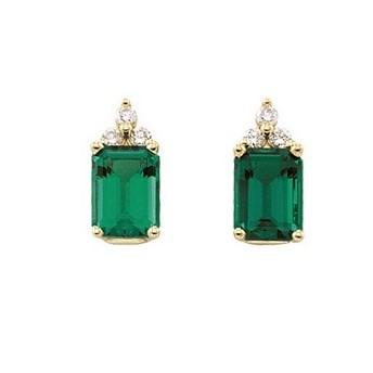 Luxusné diamantové naušnice so Smaragdom
