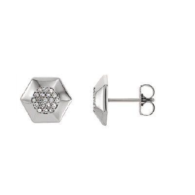 Jemné-zaujímavé diamantové naušnice