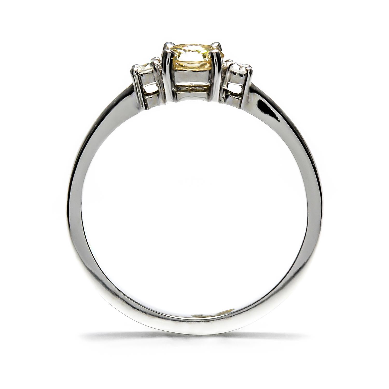 Vynímočný diamantový prsteň s Citrínom