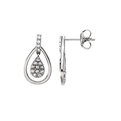 Zaujímavé diamantové náušnice z bieleho zlata