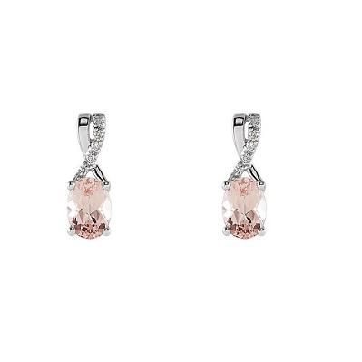 65b097003 Jemné diamantové náušnice s Morganitom - Radovan Blaško - Zlatníctvo ...