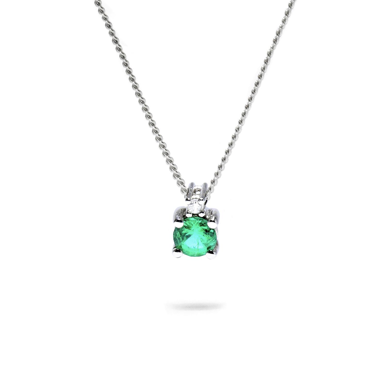 Jemný diamantový prívesok so Smaragdom
