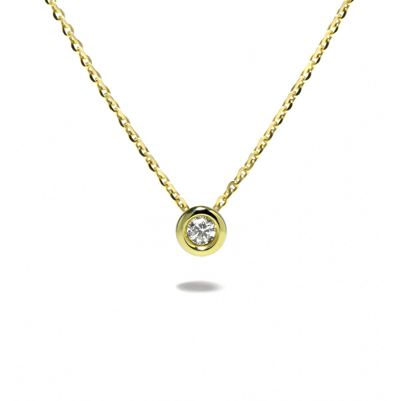 Zlatý diamantový prívesok