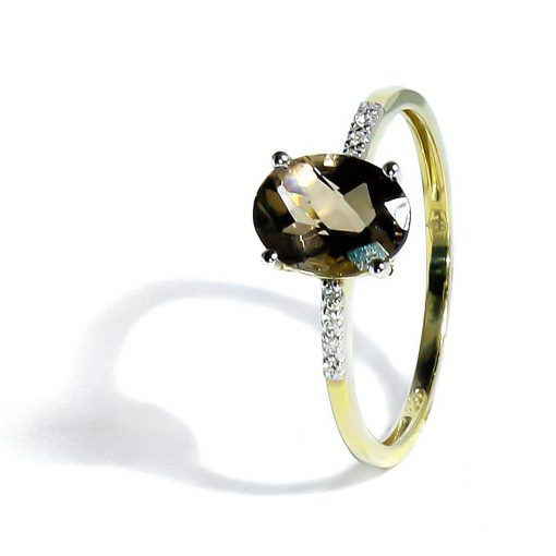 Luxusný diamantový prsteň so Záhnedou
