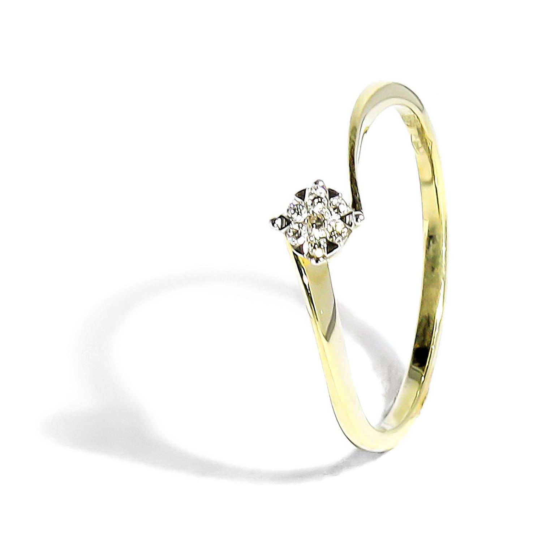 687efa59c Jemný prsteň zo žltého zlata s diamantom 0,05ct - Radovan Blaško ...