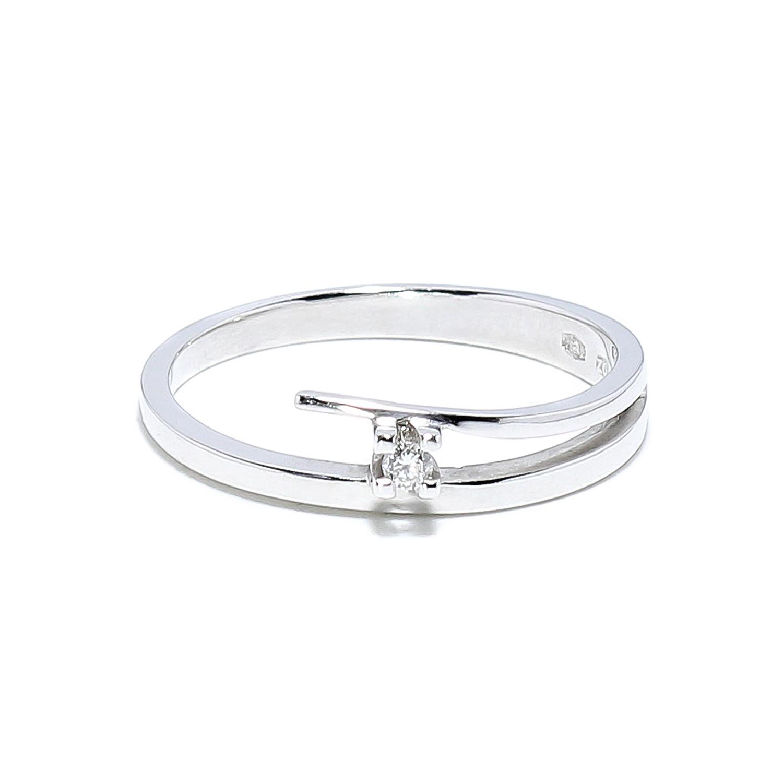 33b49e4e2 Jemný zlatý prsteň s diamantom 0,03 ct - Radovan Blaško - Zlatníctvo ...
