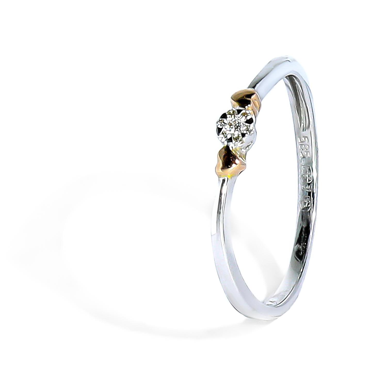 Romantický diamantový prsteň