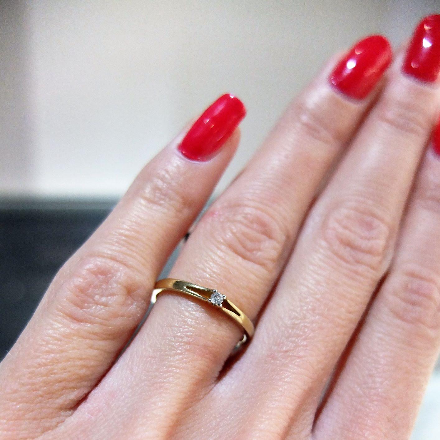Romanticky Diamantovy prsten