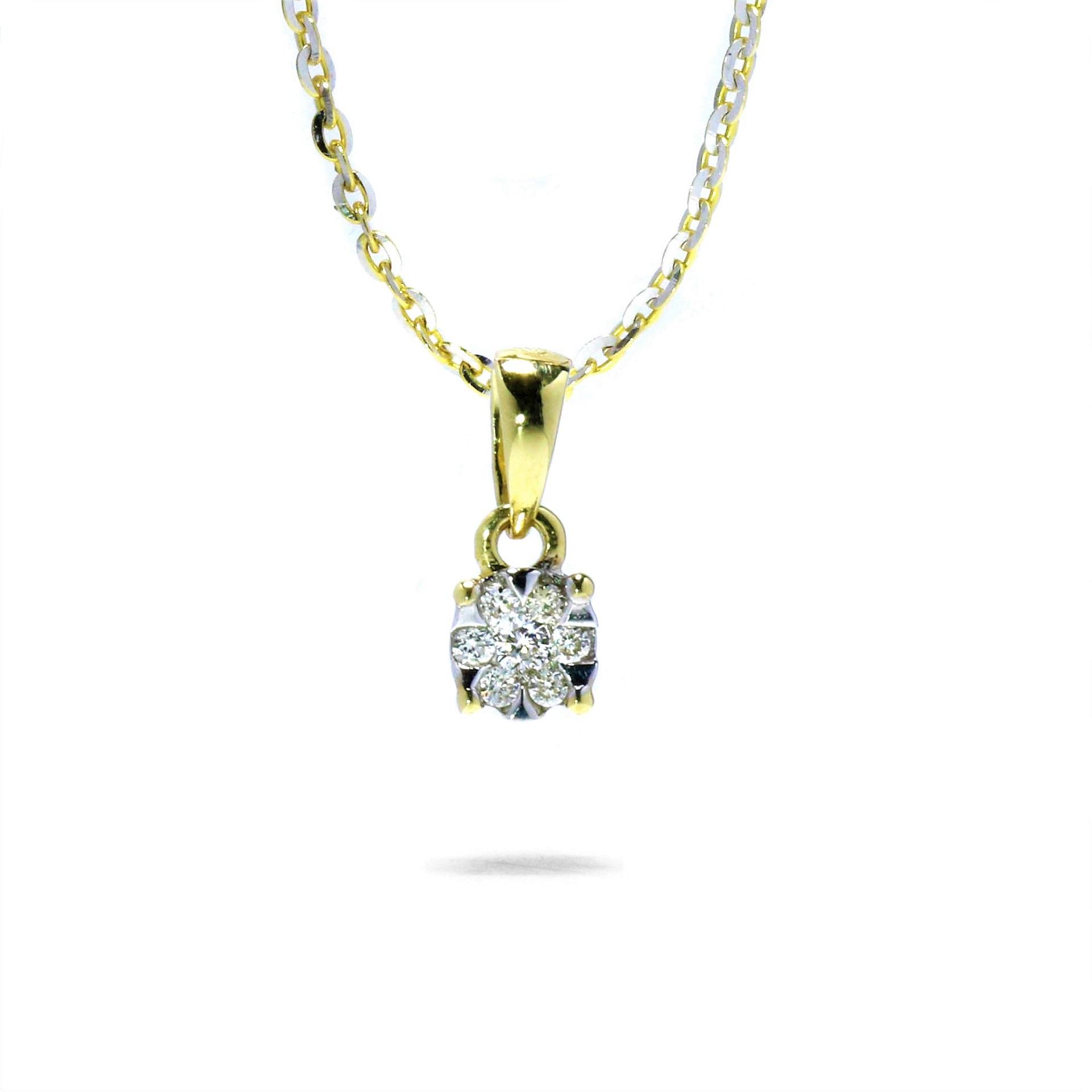 Jemný diamantový prívesok