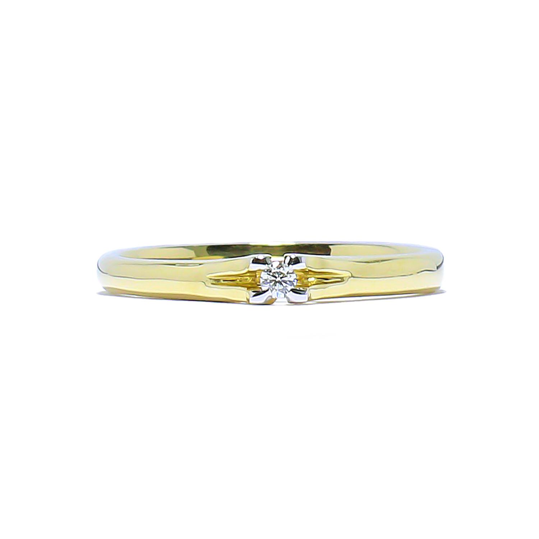 78d03eb7c Jemný prsteň s diamantom 0,02ct - Radovan Blaško - Zlatníctvo Poprad ...