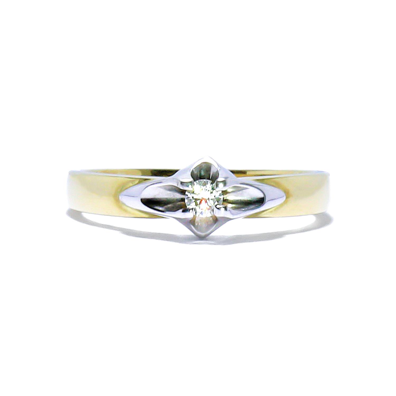 Vintage diamantový zásnubný prsteň 0.09ct - Radovan Blaško ... 6c9ad04e796