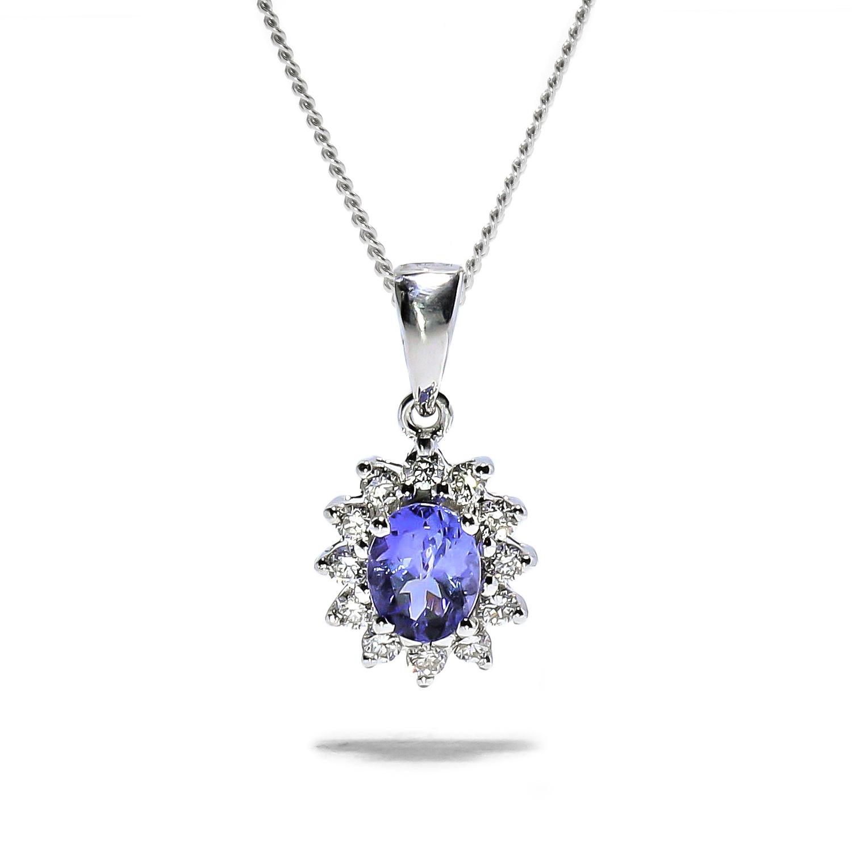 Luxusný diamantový prívesok s Tanazanitom