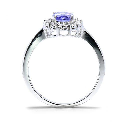 Luxusný diamantový prsteň s tanzanitom