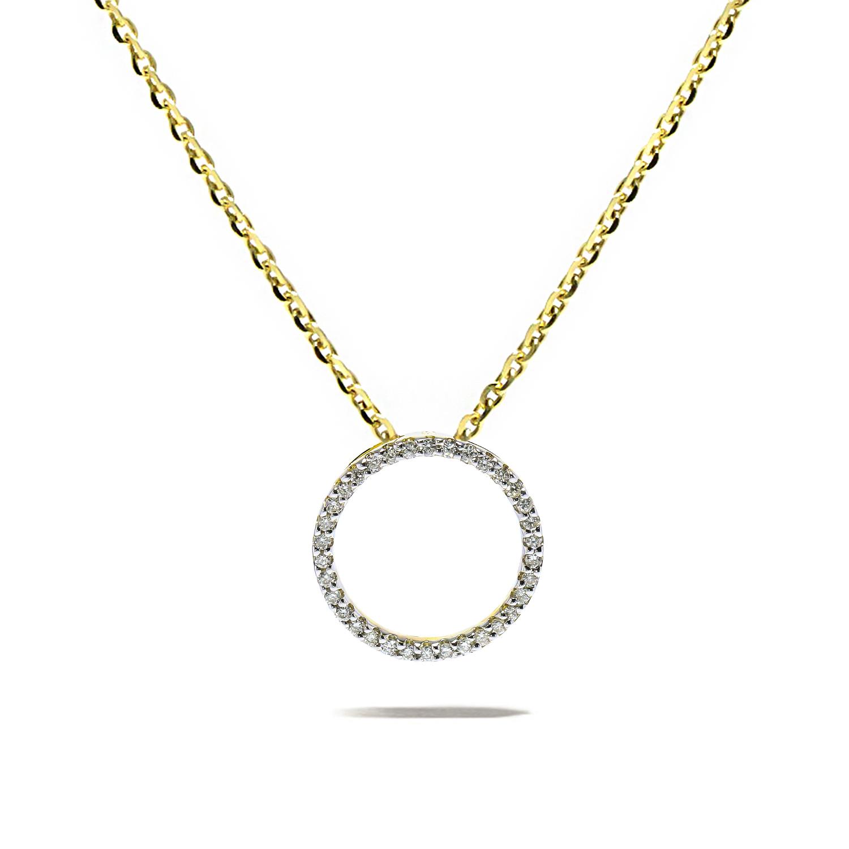 Diamantový prívesok v tvare kruhu