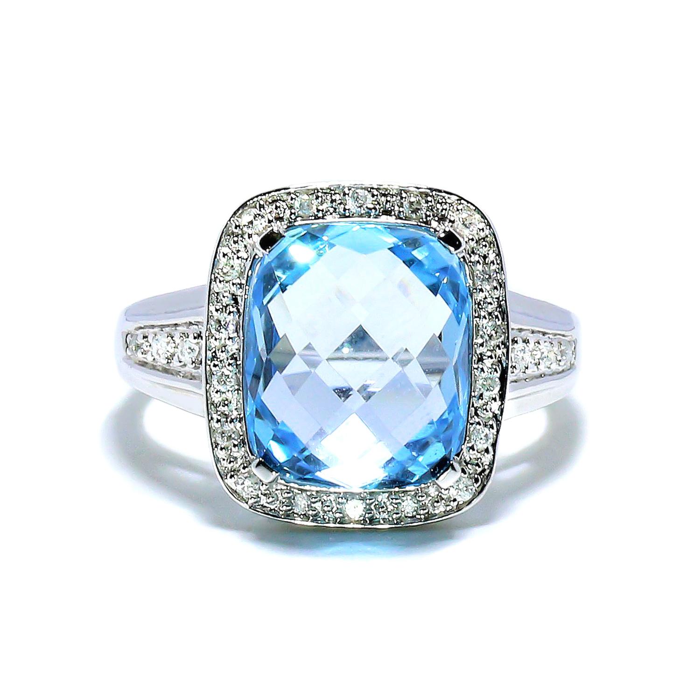 Luxusný diamantový prsteň s Topázom