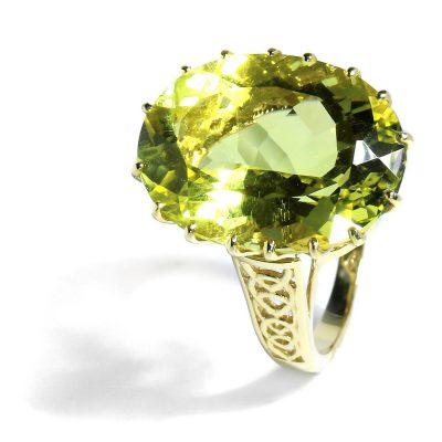 Luxusný prstienok s prírodným Citrínom