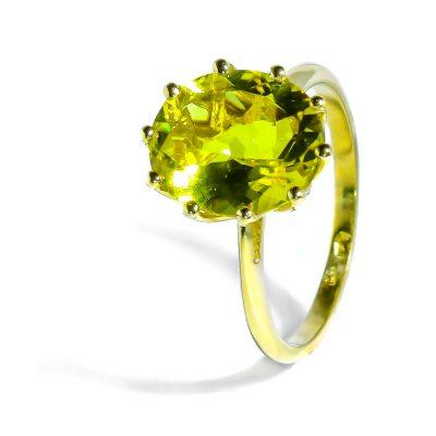 Zlatý prsteň s prírodným Citrínom