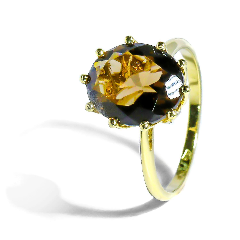 Zlatý prsteň s prírodnou Záhnedou
