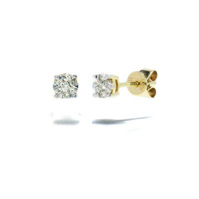 zlte-zlato-nausnice-diamant-napichovacie
