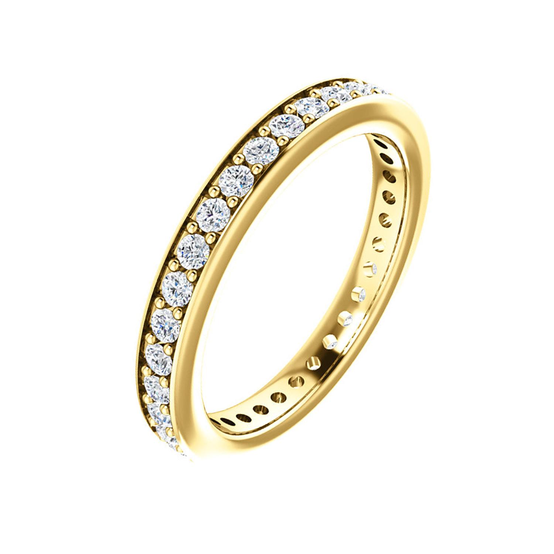 Diamantový prstienok k výročiu v tvare obrúčky