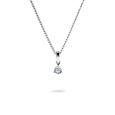 Jemný prívesok s diamantom