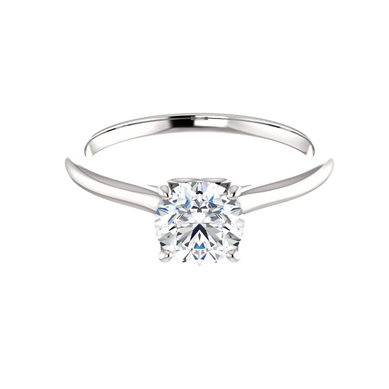 Diamantový prsteň hladký s diamantom