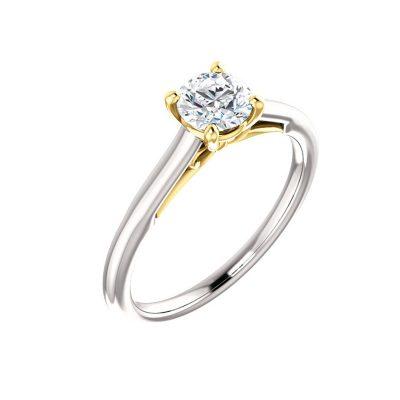 Jedinečný diamantový prsteň z bielo-žltého zlata