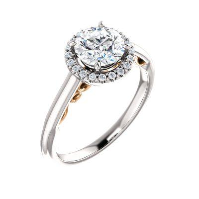 Kombinovaný diamantový prsteň z bieleho a ružového zlata
