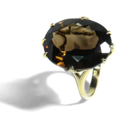 Očarujúci prsteň s nádhernou Záhnedou